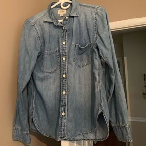 J.Crew button up size 8